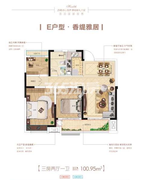 国祯·健康城E户型图