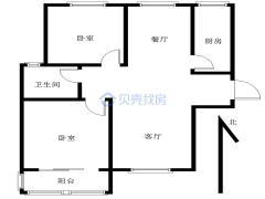 淮合花园2室1厅1卫88平米