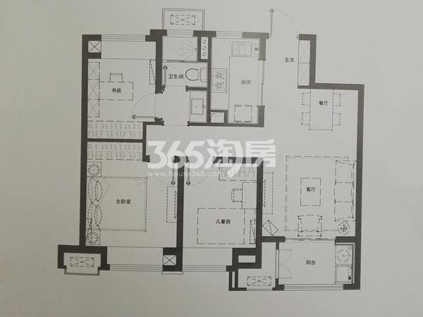 A户型90㎡三室