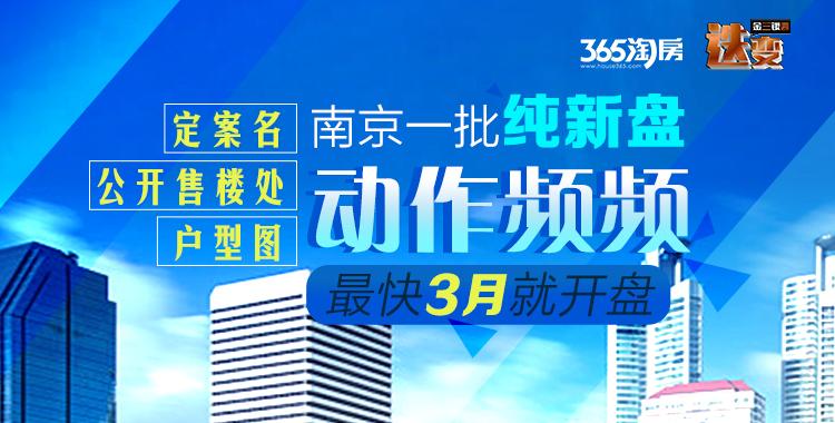 南京近20家纯新盘定案名¡¢公开售楼处¡不少计划3月入市