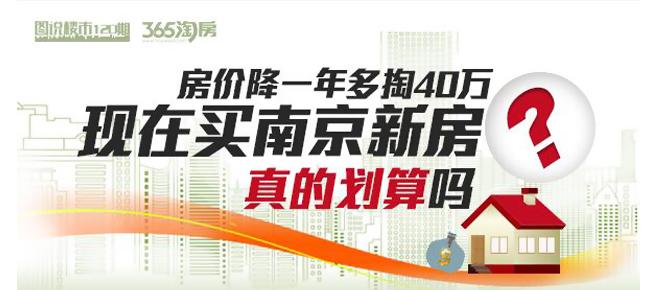 图说|房价降一年多掏40万 现在买南京新房划算吗?