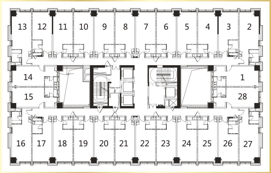 珑寓标准层平面图