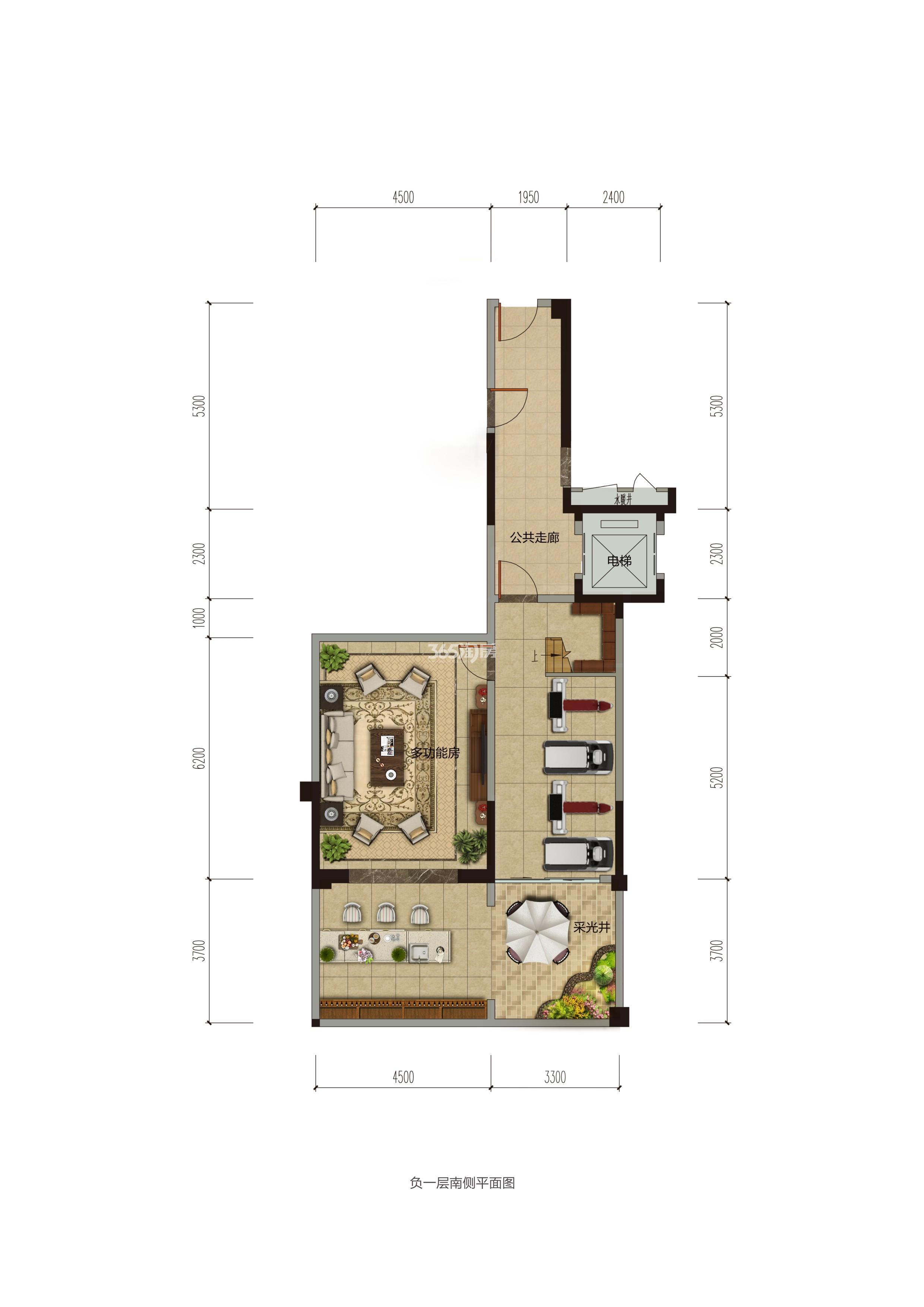 碧桂园香湖湾1号项目157-185㎡下叠(地下)户型图