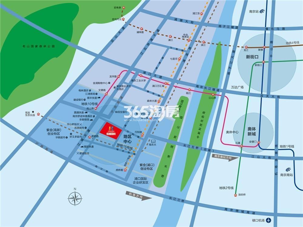 恒通国际交通图