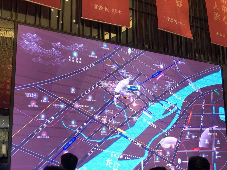 扬子江金茂悦售楼处区位规划图(6.28)