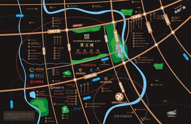 万科第五城交通图