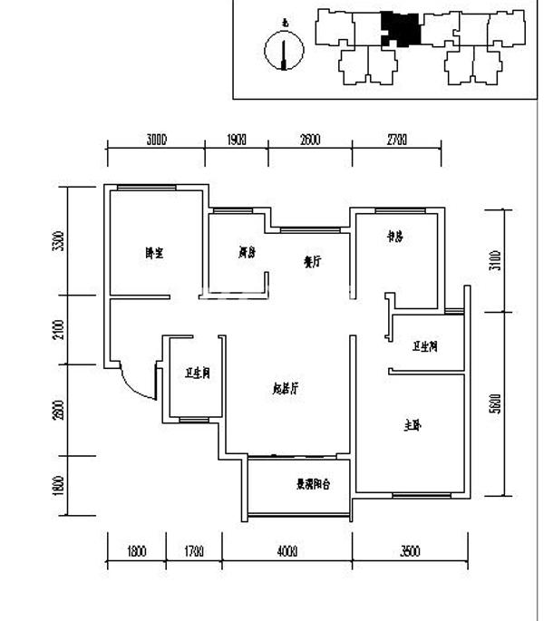 龙记玖玺31#三室两厅两卫一厨105平