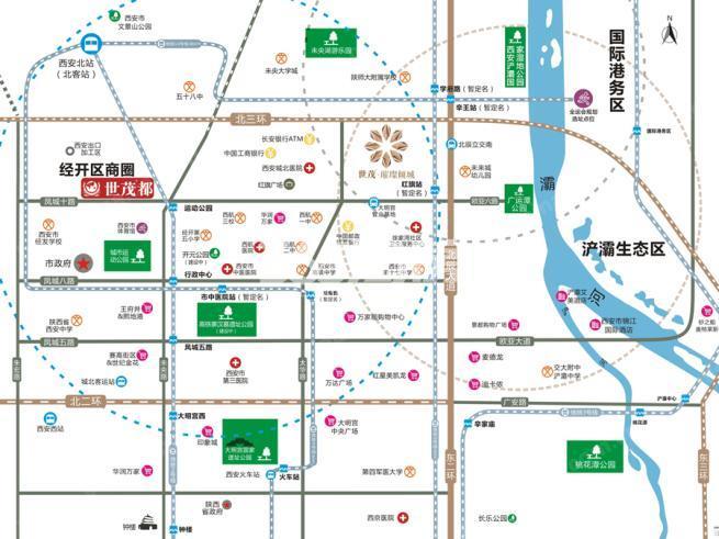 世茂璀璨倾城交通图