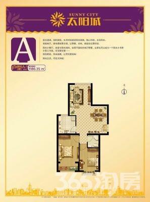 太阳城2室2厅1卫82平米2017年使用权房毛坯