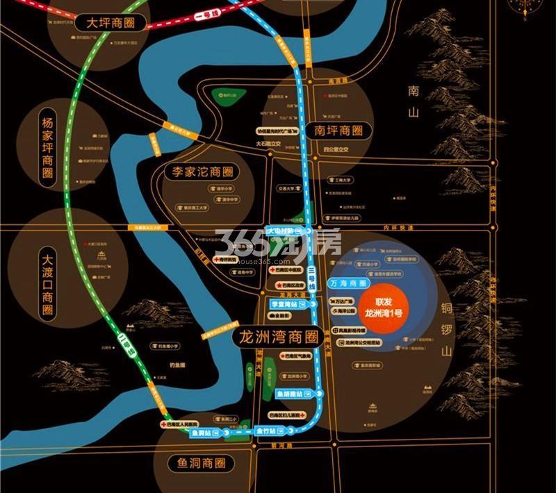 联发龙洲湾1号交通图