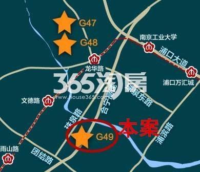 金地江浦G49地块交通图