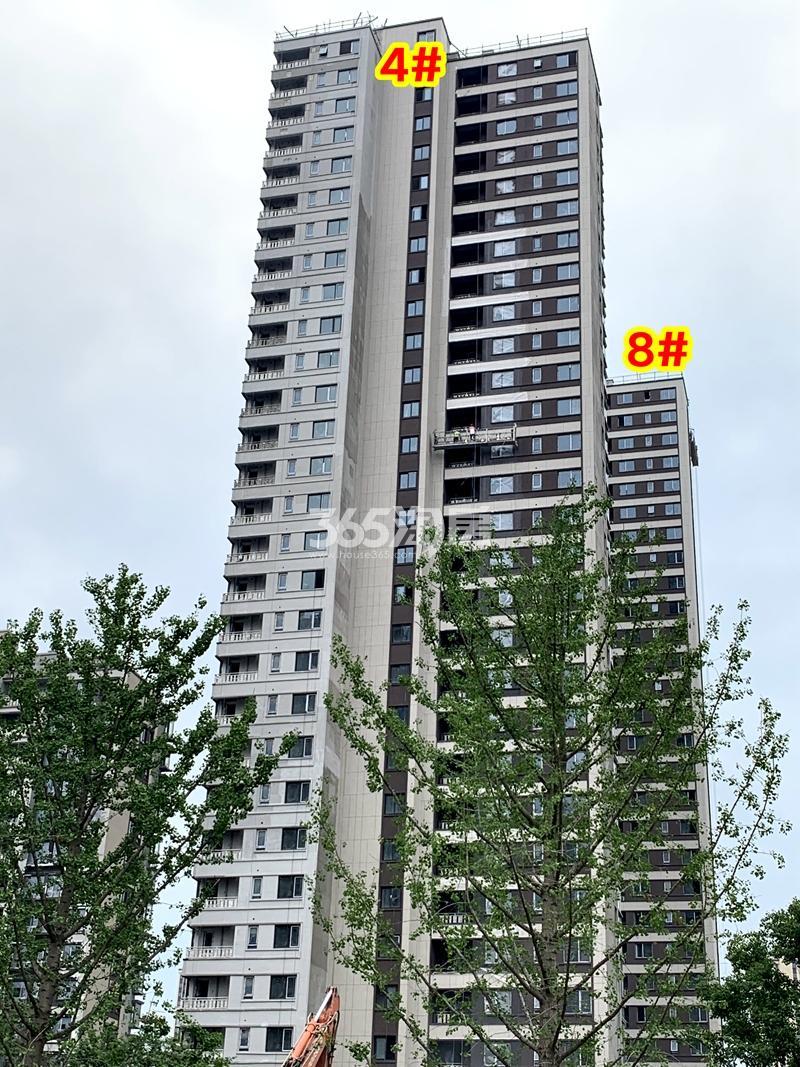 万科翡翠东方4#、8#楼工程实景(2020.6.30摄)
