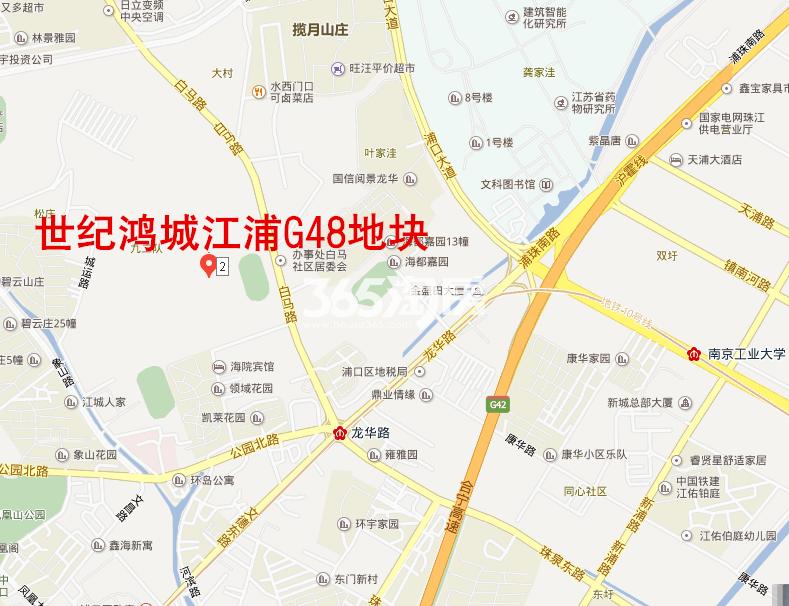 北京城建江浦G48地块交通图