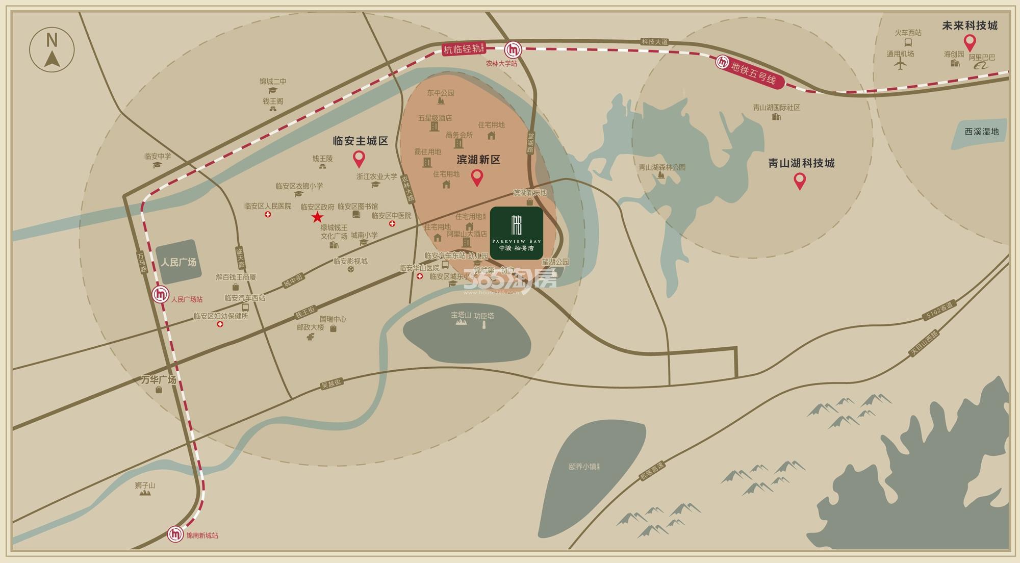 中骏柏景湾交通图