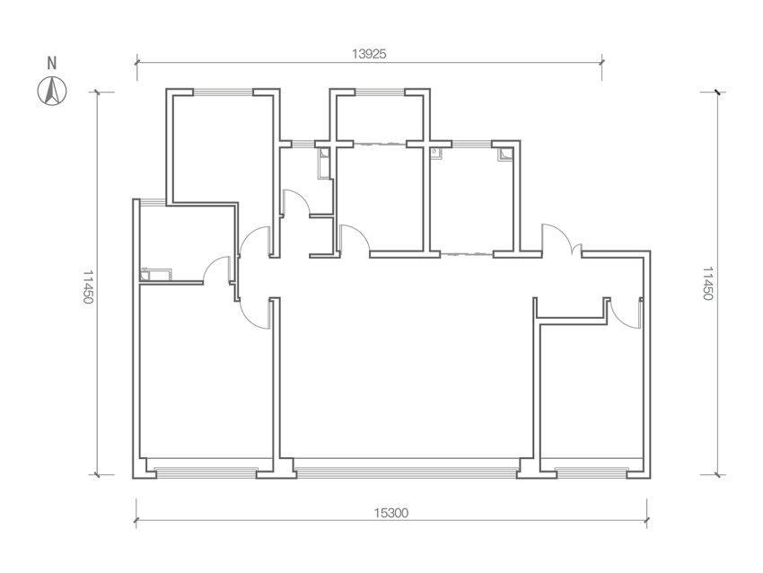 龙湖春江天序165㎡四室两厅两卫A户型低密度多层户型图