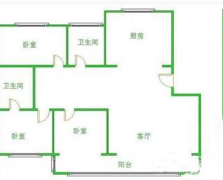 无税好房降价出售海月花园125平方户型佳得房率高视野开阔