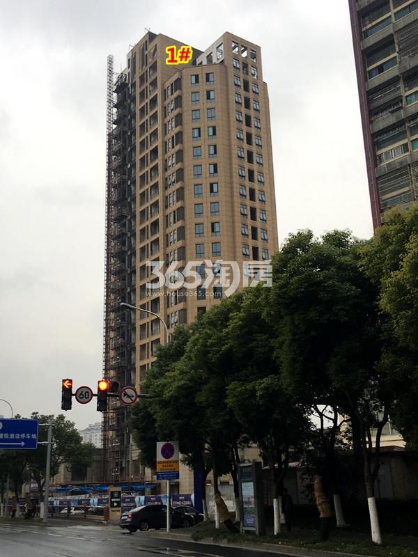 绿地・观澜湾1#楼工程进度实景图(2017.12摄)