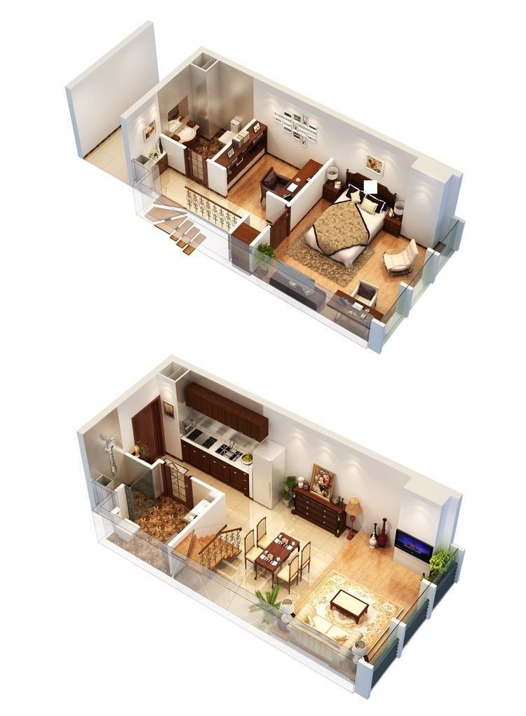 狮山小时代5.98米挑高公寓户型图