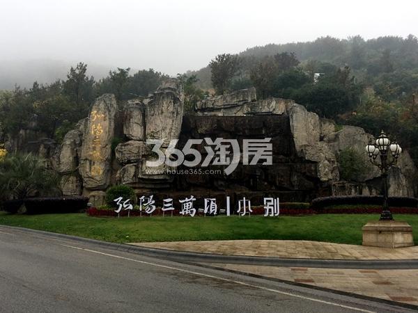 弘阳三万顷小别小区外引导案名实景图(2017.11摄)