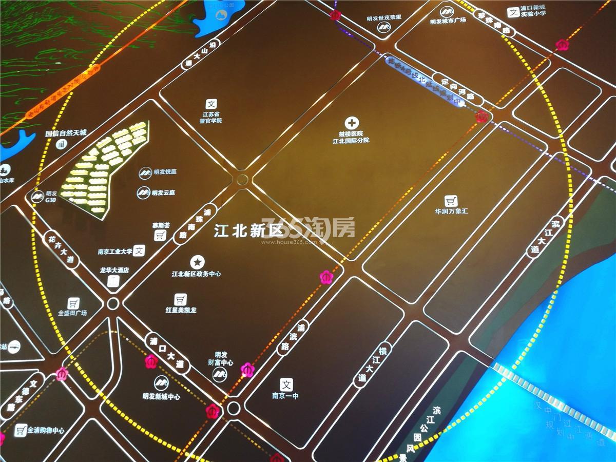 明发阅山悦府售楼处区位实景图(11.27)