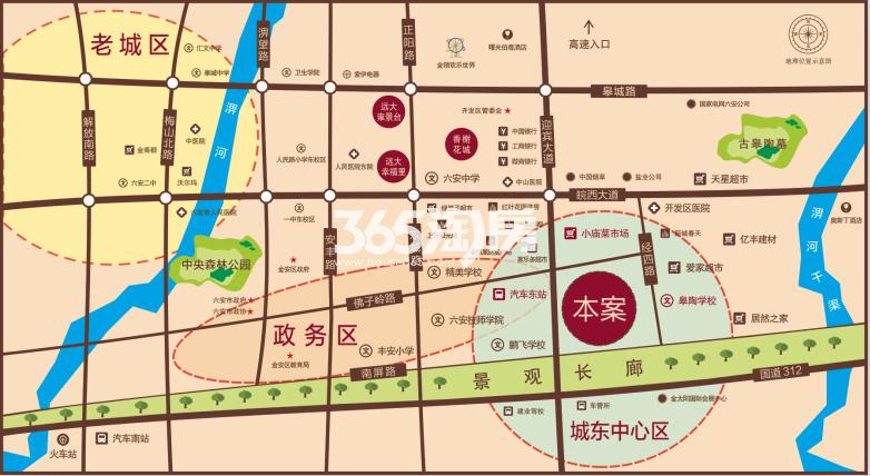 远大玫瑰园交通图