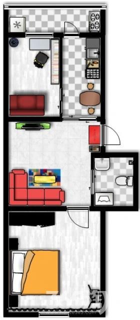 久江园2室1厅1卫62平米2007年产权房简装