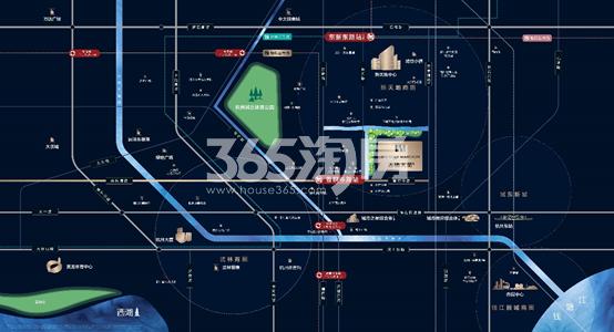 香栖天第交通图