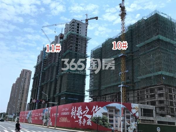 栖霞东方天郡11#、10#楼实景图(2019.7.30 摄)