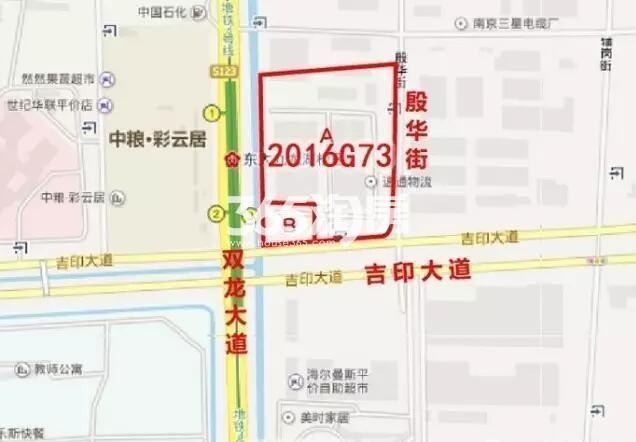 九龙湖G73地块区位图
