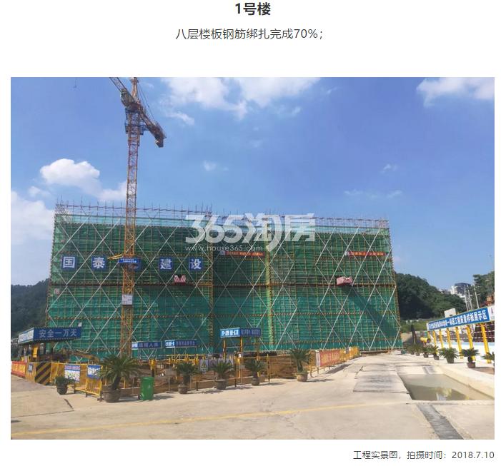 阳光城翡丽海岸1#施工进度实景图 2018年7月摄