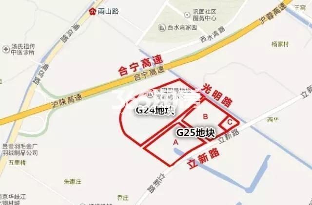 五矿江浦G25地块区位交通图