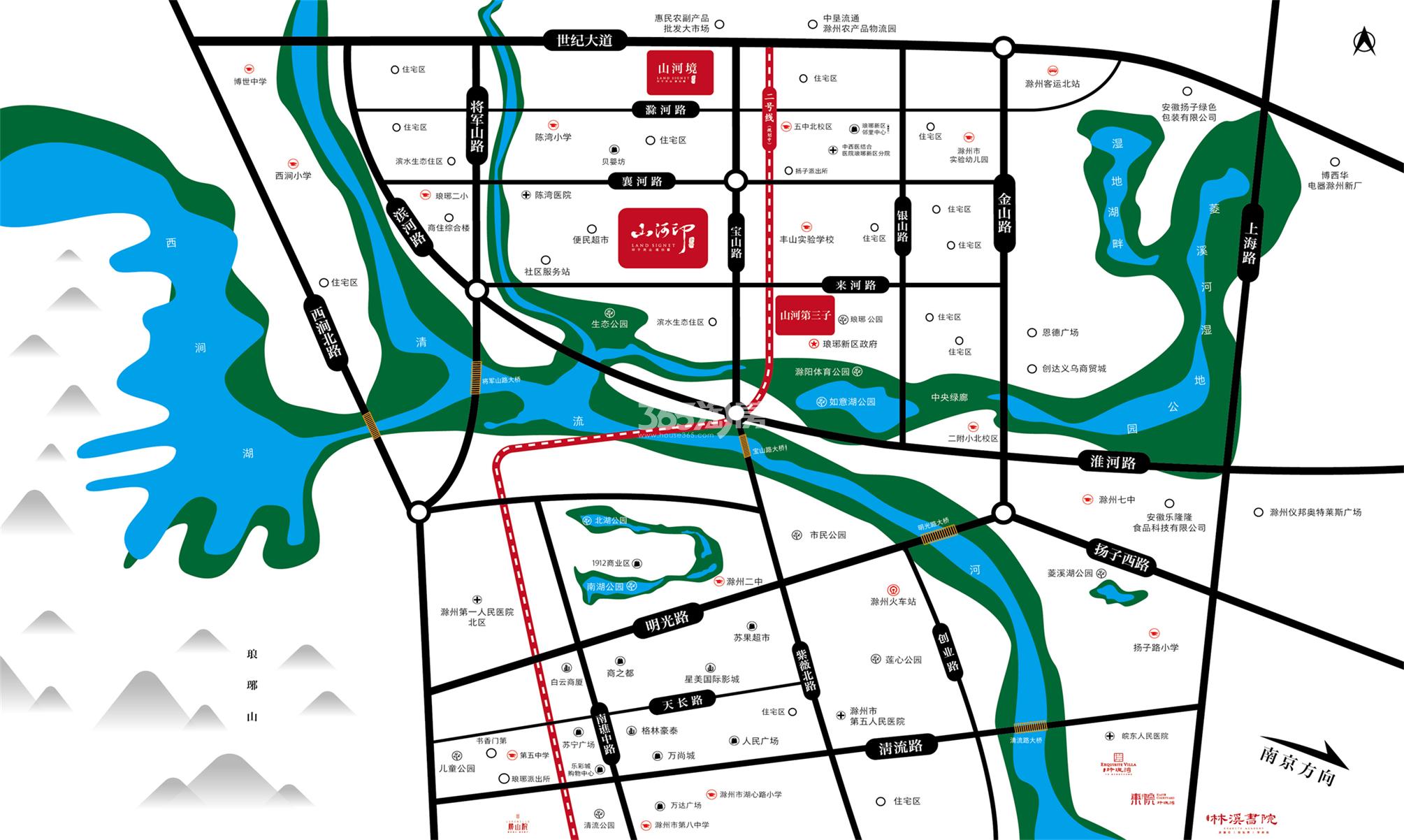 金鹏山河境交通图