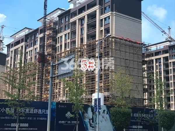 中隆广场・润��府小高层5#楼实景图(2017.10 摄)