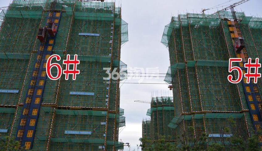 新城北宸紫郡5#6#工程进度实景图(2018.4.23)