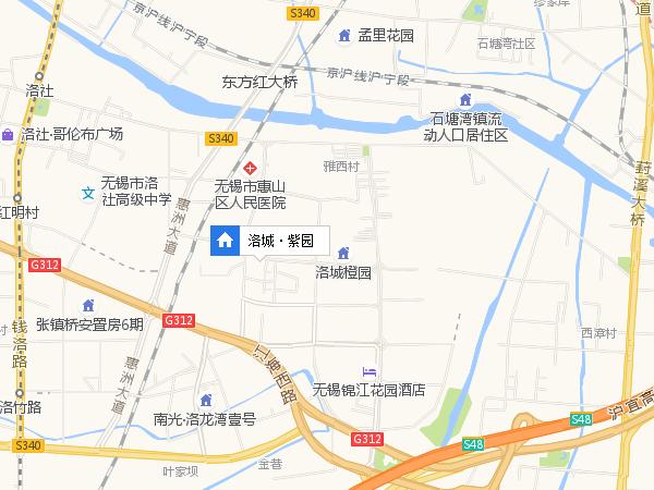 洛城·紫园区位图