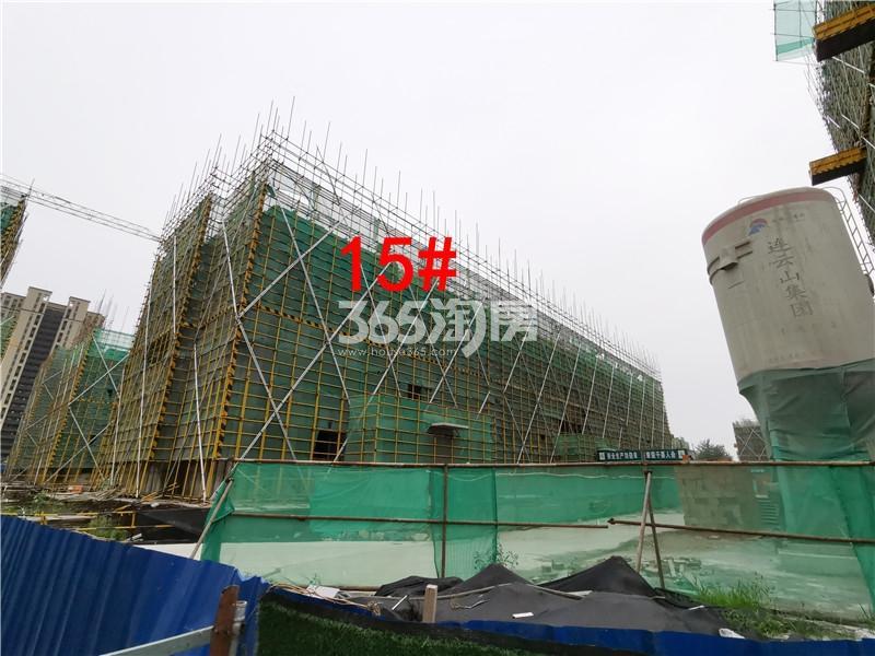 绿地理想城悦湖公馆在建15#楼实景图(6.25)