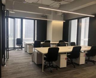 南京金融城 精装修带办公家具 面积多 看房随时