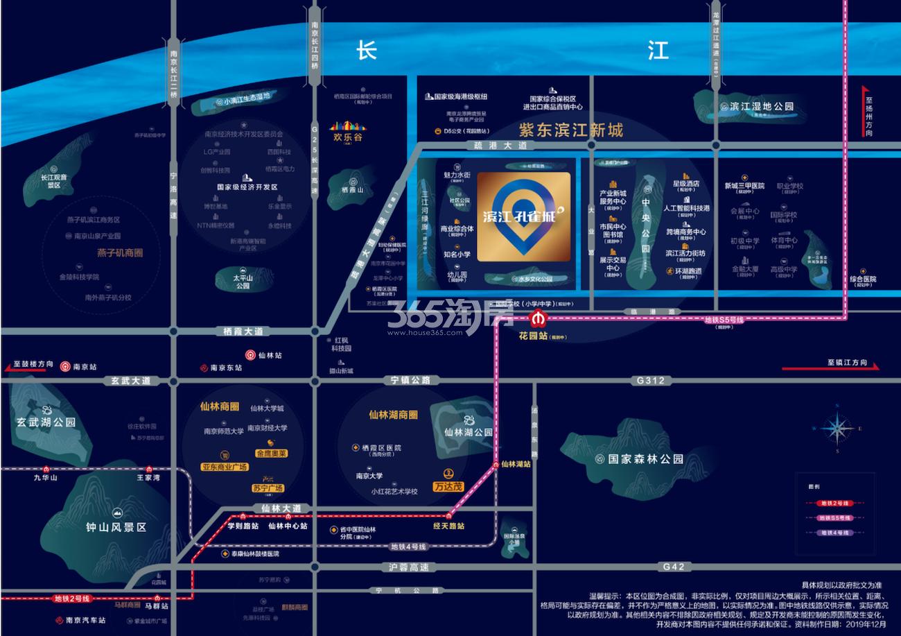 滨江孔雀城交通图