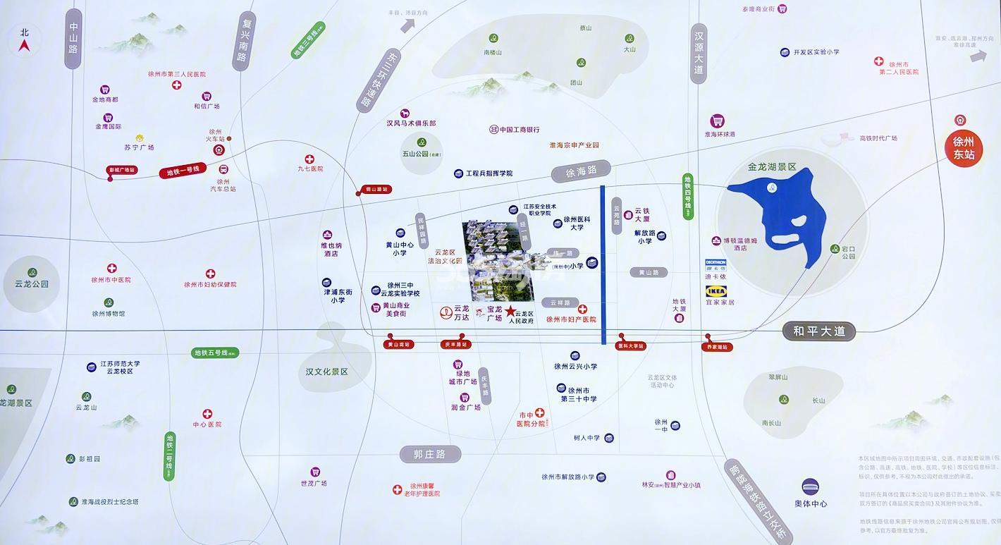 徐州百悦城交通图