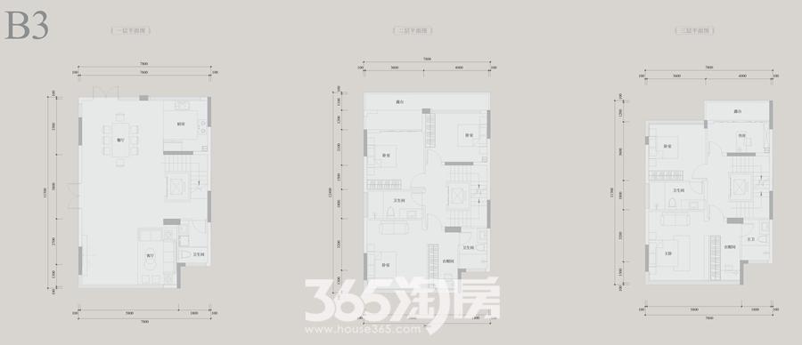 安展蔚然家园B3约263平别墅户型图