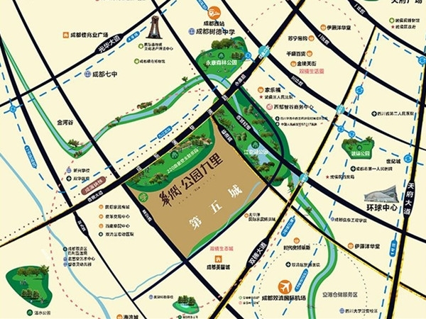 华润公园九里交通图