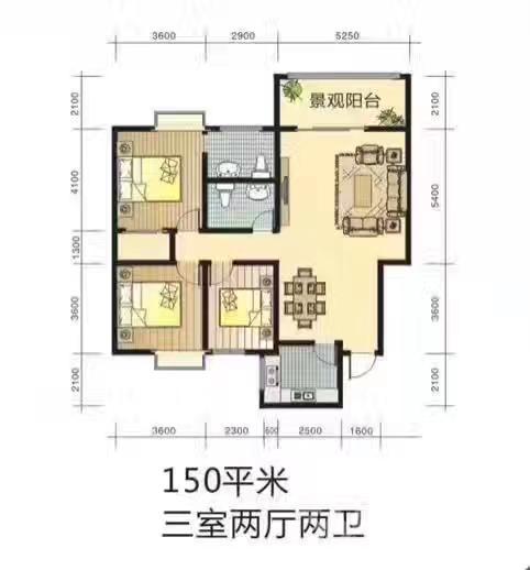 西港碧水湾3室2厅2卫149.23平米2017年产权房毛坯