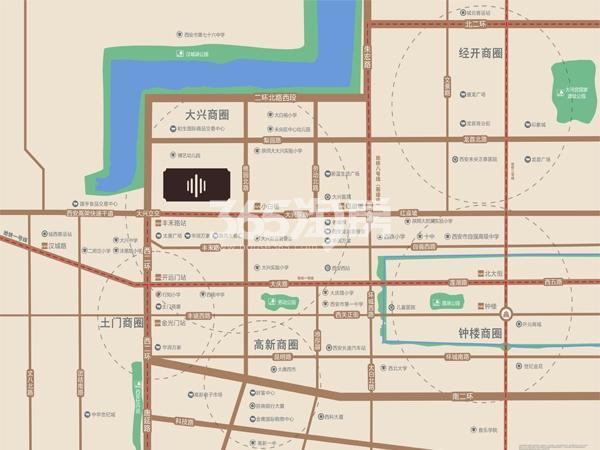 中南青樾交通图