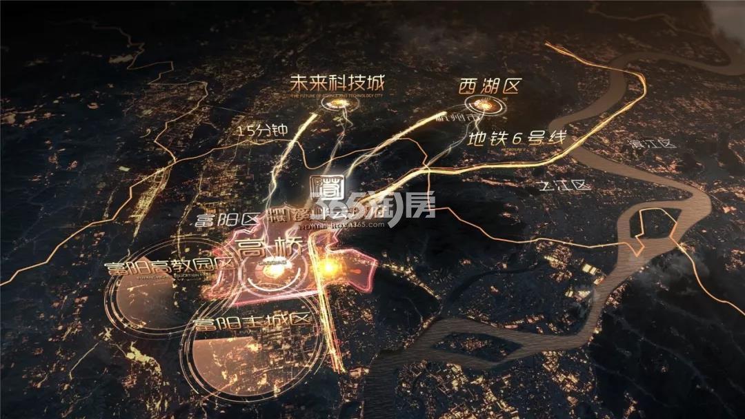 中国中铁溪畔云璟府交通图