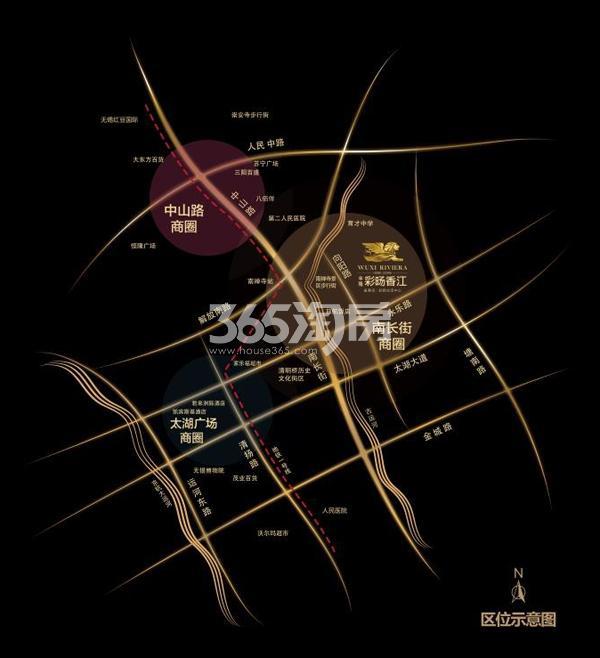彩旸香江交通图