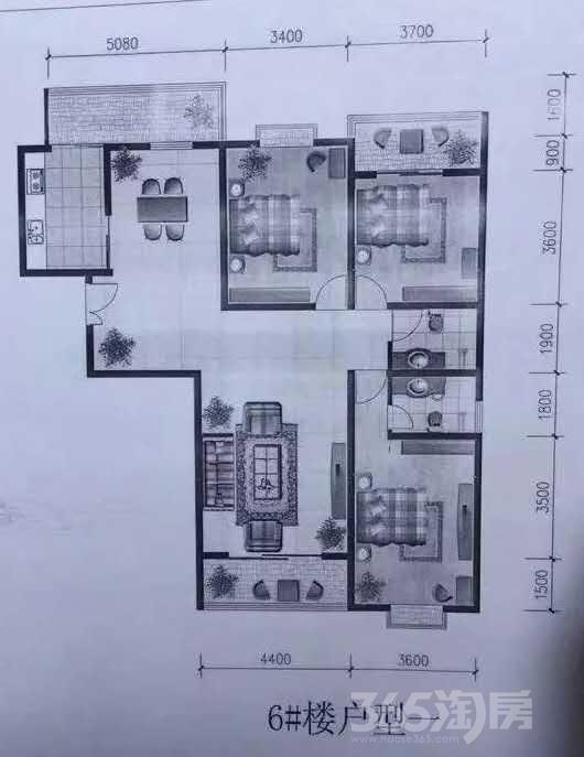 朝阳小区3室2厅2卫164平米2014年产权房毛坯