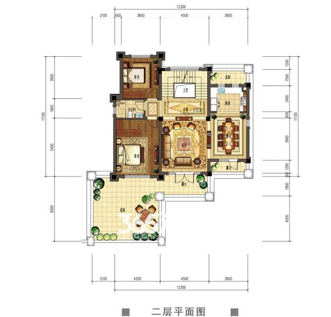 观澜天下50,51号楼二层户型图