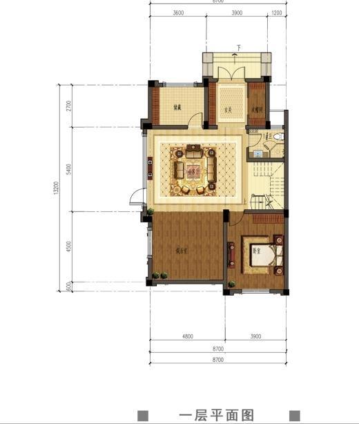 观澜天下52号楼一层户型图