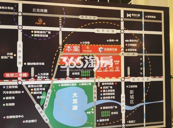 绿地泊林公馆交通图
