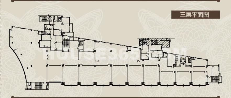 商铺楼层平面图3f